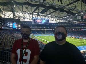 Vicki  attended Detroit Lions vs. San Francisco 49ers - NFL on Sep 12th 2021 via VetTix