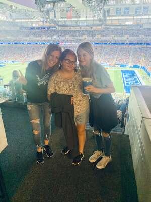 Emily attended Detroit Lions vs. San Francisco 49ers - NFL on Sep 12th 2021 via VetTix