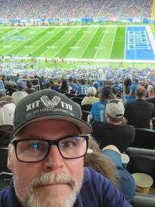Kent  attended Detroit Lions vs. San Francisco 49ers - NFL on Sep 12th 2021 via VetTix
