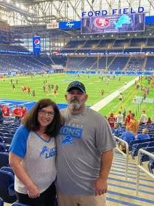Jay attended Detroit Lions vs. San Francisco 49ers - NFL on Sep 12th 2021 via VetTix