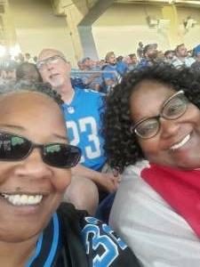 Crystal  attended Detroit Lions vs. San Francisco 49ers - NFL on Sep 12th 2021 via VetTix