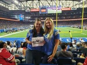 JS attended Detroit Lions vs. San Francisco 49ers - NFL on Sep 12th 2021 via VetTix