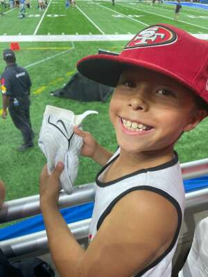Hannah G attended Detroit Lions vs. San Francisco 49ers - NFL on Sep 12th 2021 via VetTix