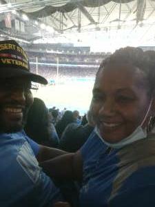 R Tidwell attended Detroit Lions vs. San Francisco 49ers - NFL on Sep 12th 2021 via VetTix
