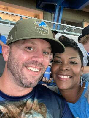 Nathan Cadwell attended Detroit Lions vs. San Francisco 49ers - NFL on Sep 12th 2021 via VetTix