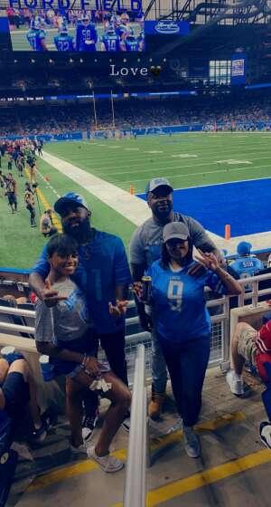 Porshia Montgomery attended Detroit Lions vs. San Francisco 49ers - NFL on Sep 12th 2021 via VetTix