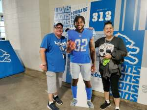 KAM attended Detroit Lions vs. San Francisco 49ers - NFL on Sep 12th 2021 via VetTix
