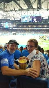 Chuck & Margaret attended Detroit Lions vs. San Francisco 49ers - NFL on Sep 12th 2021 via VetTix