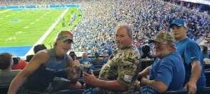 Dale attended Detroit Lions vs. San Francisco 49ers - NFL on Sep 12th 2021 via VetTix