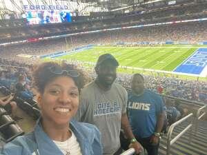 Lions Home Opener attended Detroit Lions vs. San Francisco 49ers - NFL on Sep 12th 2021 via VetTix