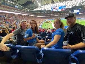 Kelley Woodside attended Detroit Lions vs. San Francisco 49ers - NFL on Sep 12th 2021 via VetTix