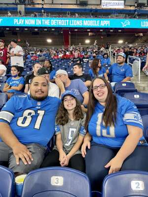 Mike Medrano attended Detroit Lions vs. San Francisco 49ers - NFL on Sep 12th 2021 via VetTix