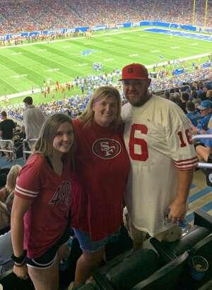 Manuel Carrillo attended Detroit Lions vs. San Francisco 49ers - NFL on Sep 12th 2021 via VetTix
