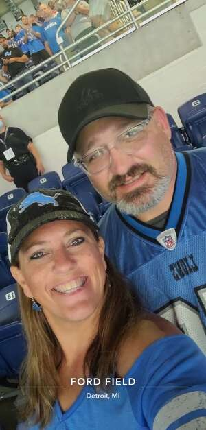Carrie attended Detroit Lions vs. San Francisco 49ers - NFL on Sep 12th 2021 via VetTix
