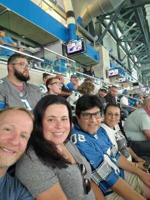 Chad Gripentrog attended Detroit Lions vs. San Francisco 49ers - NFL on Sep 12th 2021 via VetTix