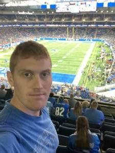 David attended Detroit Lions vs. San Francisco 49ers - NFL on Sep 12th 2021 via VetTix
