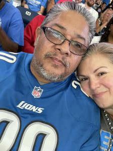 Samuel A. attended Detroit Lions vs. San Francisco 49ers - NFL on Sep 12th 2021 via VetTix