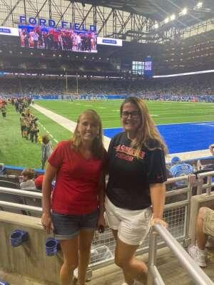 Stacia attended Detroit Lions vs. San Francisco 49ers - NFL on Sep 12th 2021 via VetTix