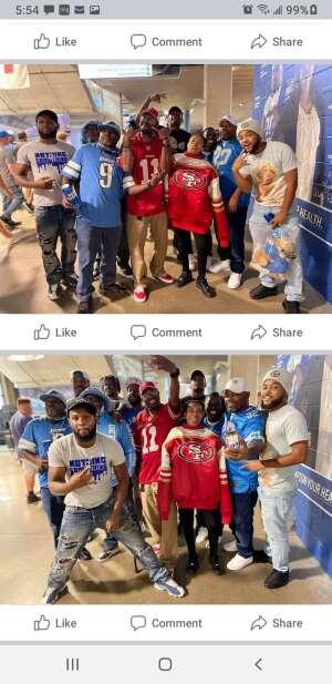 Charles  attended Detroit Lions vs. San Francisco 49ers - NFL on Sep 12th 2021 via VetTix