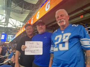 Allen attended Detroit Lions vs. San Francisco 49ers - NFL on Sep 12th 2021 via VetTix