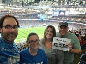 Luke attended Detroit Lions vs. San Francisco 49ers - NFL on Sep 12th 2021 via VetTix