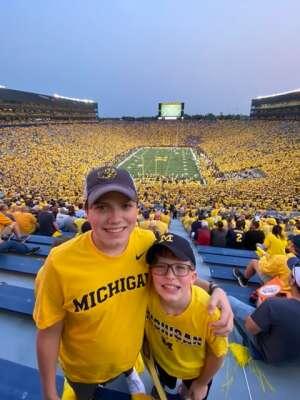 Clayton attended Michigan Wolverines vs. Washington Huskies - NCAA Football on Sep 11th 2021 via VetTix