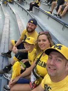 J P attended Michigan Wolverines vs. Washington Huskies - NCAA Football on Sep 11th 2021 via VetTix