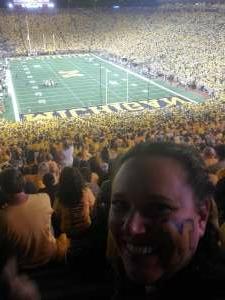 Angela K attended Michigan Wolverines vs. Washington Huskies - NCAA Football on Sep 11th 2021 via VetTix