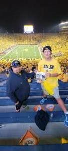 Mike attended Michigan Wolverines vs. Washington Huskies - NCAA Football on Sep 11th 2021 via VetTix