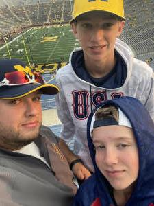 Nick attended Michigan Wolverines vs. Washington Huskies - NCAA Football on Sep 11th 2021 via VetTix
