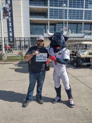 Joshua Meyer attended Houston Texans vs. Jacksonville Jaguars - NFL on Sep 12th 2021 via VetTix