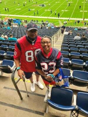 Andre Cunningham  attended Houston Texans vs. Jacksonville Jaguars - NFL on Sep 12th 2021 via VetTix