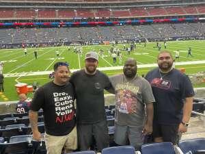 Jonathan Silva attended Houston Texans vs. Jacksonville Jaguars - NFL on Sep 12th 2021 via VetTix