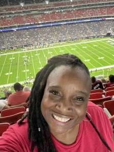 Kaydra  attended Houston Texans vs. Jacksonville Jaguars - NFL on Sep 12th 2021 via VetTix
