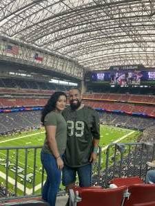 Chris attended Houston Texans vs. Jacksonville Jaguars - NFL on Sep 12th 2021 via VetTix