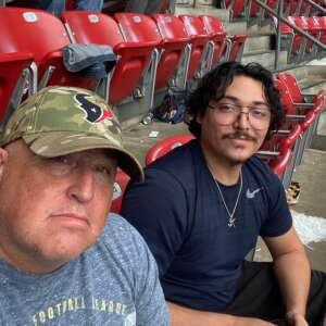 1SG Prado attended Houston Texans vs. Jacksonville Jaguars - NFL on Sep 12th 2021 via VetTix