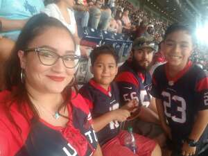 Azalea Perez attended Houston Texans vs. Jacksonville Jaguars - NFL on Sep 12th 2021 via VetTix