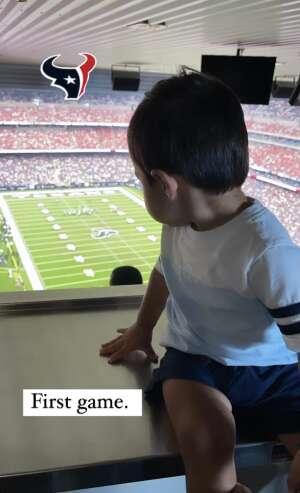 Carlos attended Houston Texans vs. Jacksonville Jaguars - NFL on Sep 12th 2021 via VetTix