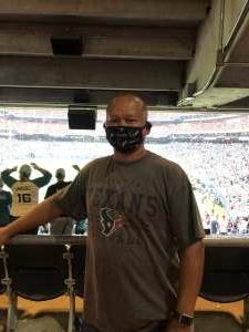 Darryl Anderson attended Houston Texans vs. Jacksonville Jaguars - NFL on Sep 12th 2021 via VetTix