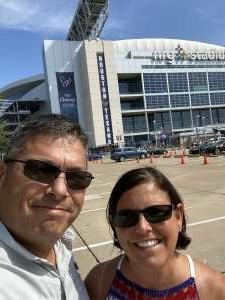 Marcey P attended Houston Texans vs. Jacksonville Jaguars - NFL on Sep 12th 2021 via VetTix