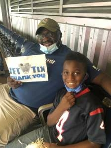 Will attended Houston Texans vs. Jacksonville Jaguars - NFL on Sep 12th 2021 via VetTix