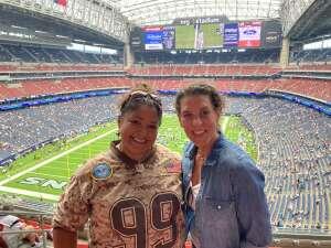 Jen D. attended Houston Texans vs. Jacksonville Jaguars - NFL on Sep 12th 2021 via VetTix