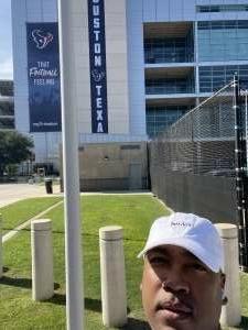 Jamar bryant attended Houston Texans vs. Jacksonville Jaguars - NFL on Sep 12th 2021 via VetTix