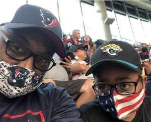John attended Houston Texans vs. Jacksonville Jaguars - NFL on Sep 12th 2021 via VetTix