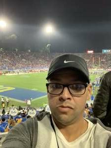 Elvin attended UCLA vs. Fresno State on Sep 18th 2021 via VetTix