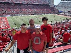 Keith attended Ohio State Buckeyes vs. Oregon Ducks - NCAA Football on Sep 11th 2021 via VetTix