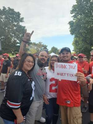 Tyler attended Ohio State Buckeyes vs. Oregon Ducks - NCAA Football on Sep 11th 2021 via VetTix