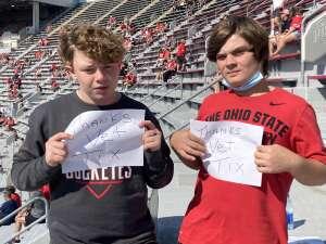 Recker family attended Ohio State Buckeyes vs. Oregon Ducks - NCAA Football on Sep 11th 2021 via VetTix