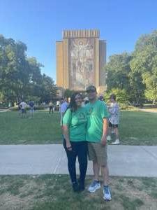 Ryan S. attended Notre Dame Fighting Irish vs. Purdue Boilermakers - NCAA Football on Sep 18th 2021 via VetTix