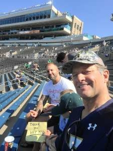 Click To Read More Feedback from Notre Dame Fighting Irish vs. Purdue Boilermakers - NCAA Football